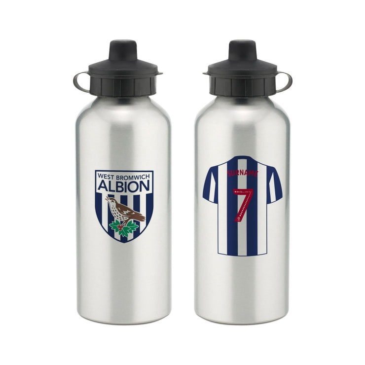 Personalised West Bromwich Albion FC Aluminium Water Bottle-Drinks Bottle-Give Personalised Gifts