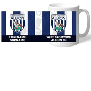 Personalised West Bromwich Albion FC Bold Crest Mug-Mugs-Give Personalised Gifts
