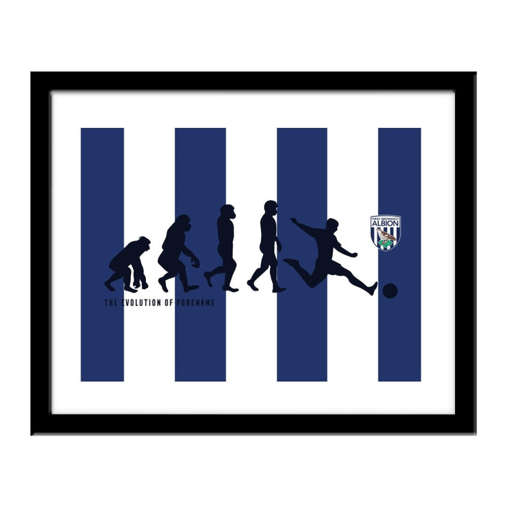 Personalised West Bromwich Albion FC Evolution Print