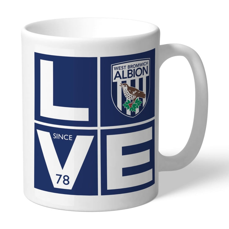 Personalised West Bromwich Albion FC Love Mug