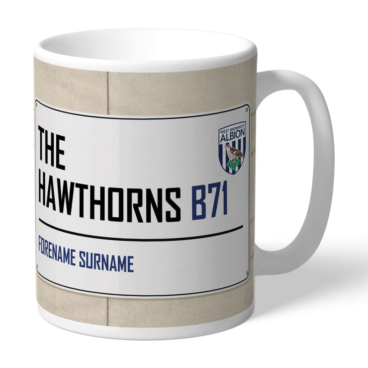 Personalised West Bromwich Albion FC Street Sign Mug