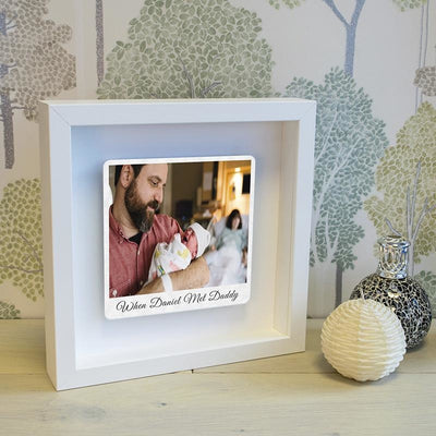 Personalised When... Met Daddy Photo Box Frame