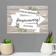 Personalised White Arrow Banner Metal Sign-Banners-Give Personalised Gifts