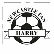 Personalised White Football Wall Art-Wall Art-Give Personalised Gifts