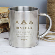 Personalised 'Wilderness Wanderer' Stainless Steel Mug-Mugs-Give Personalised Gifts