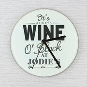 Personalised Wine O'Clock Clock-Clock-Give Personalised Gifts