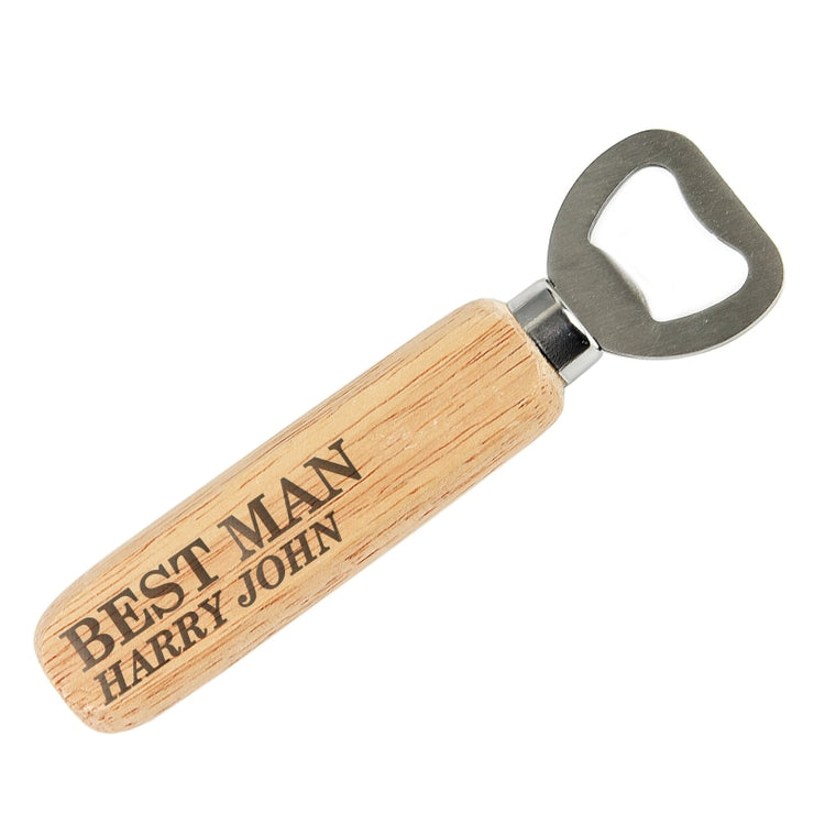 Personalised Wooden Bottle Opener-Barware-Give Personalised Gifts