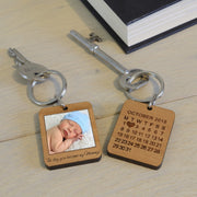 Personalised Wooden Key Ring With Photo for Mum-Keyring-Give Personalised Gifts