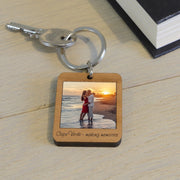 Personalised Wooden Key Ring With Photo-Keyring-Give Personalised Gifts