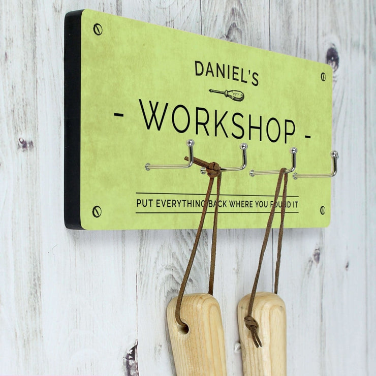 Personalised Workshop Hooks-Him-Give Personalised Gifts