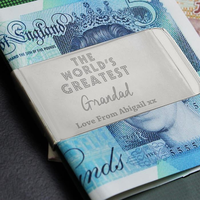Personalised 'World's Greatest' Money Clip-Clip-Give Personalised Gifts