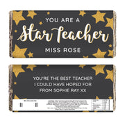 Personalised You Are A Star Teacher Milk Chocolate Bar-Chocolate Bar-Give Personalised Gifts