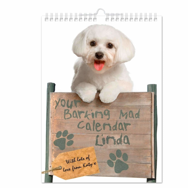 Personalised Your Barking Mad A4 Wall Calendar-Calendar-Give Personalised Gifts