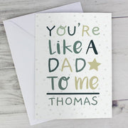 Personalised 'You're Like a Dad to Me' Card-Personalised Cards-Give Personalised Gifts