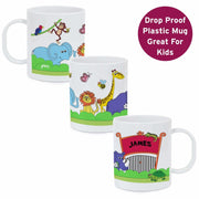 Personalised Zoo Plastic Mug-Mugs-Give Personalised Gifts