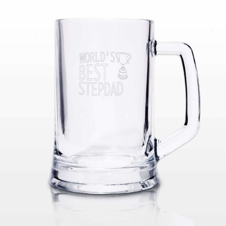 Worlds Best Step Dad Stern Tankard-Tankard-Give Personalised Gifts