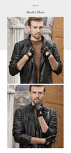 Load image into Gallery viewer, Leather Men Driving Gloves