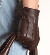 Load image into Gallery viewer, Leather Male Driving Gloves