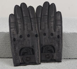 Leather Men Driving Gloves
