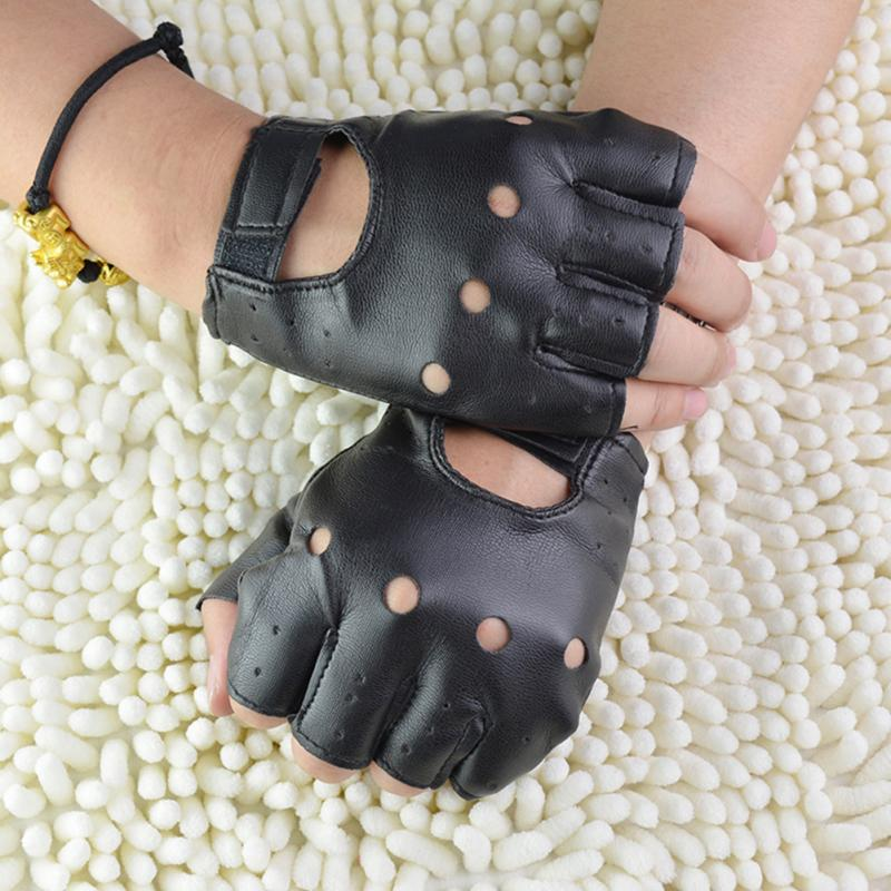 Leather Gloves Solid