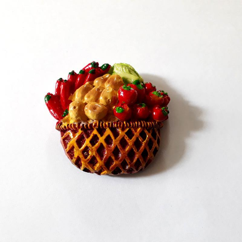 Fruit Basket Refrigerator Magnets, Perfect Fridge Magnets Made of Ceramic - Bamagate