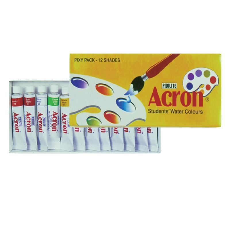Acron Water Colours Pack 12 Shades For Painting - Bamagate
