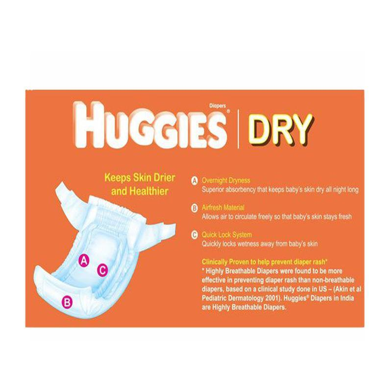 HUGGIES Dry Baby Diapers, Size S Up to 7 Kg - 5 Count - Bamagate