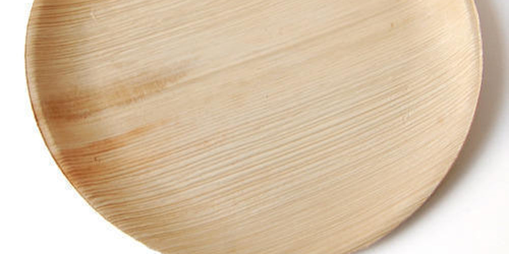 Pure Natural Areca Palm Leaf Plates 10 inch Round - Set Pack (25) - bamagate-com