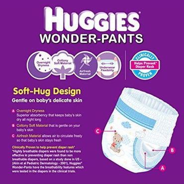 HUGGIES Wonder Pants, Size S, 4 - 8 Kg - 20 Count - Bamagate