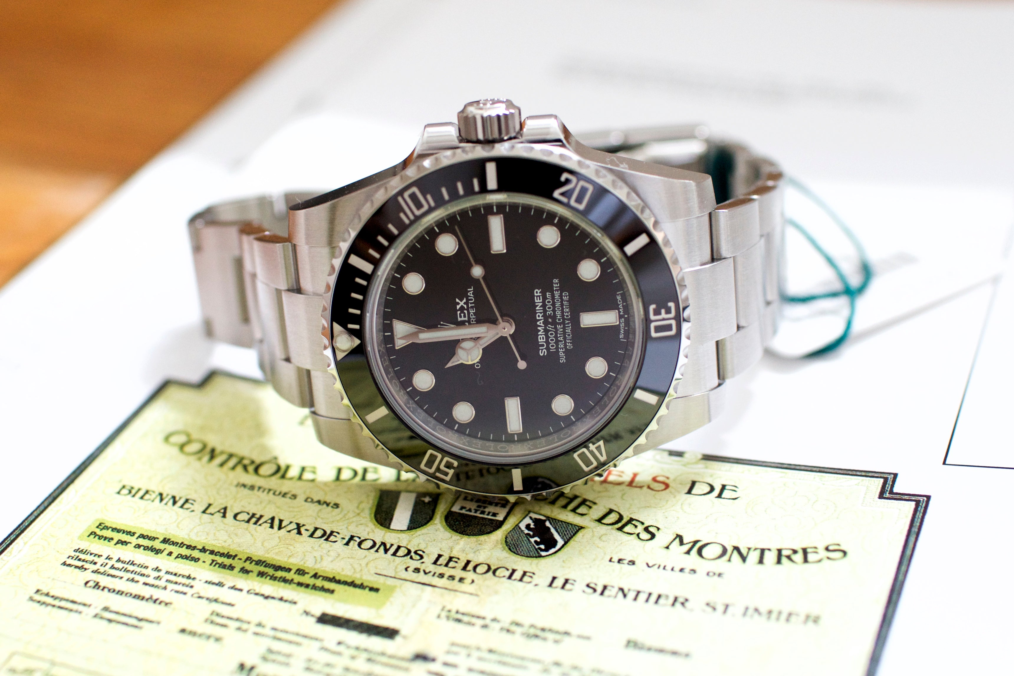 Rolex Submariner (No Date) 114060 Ceramic 2019 NEW