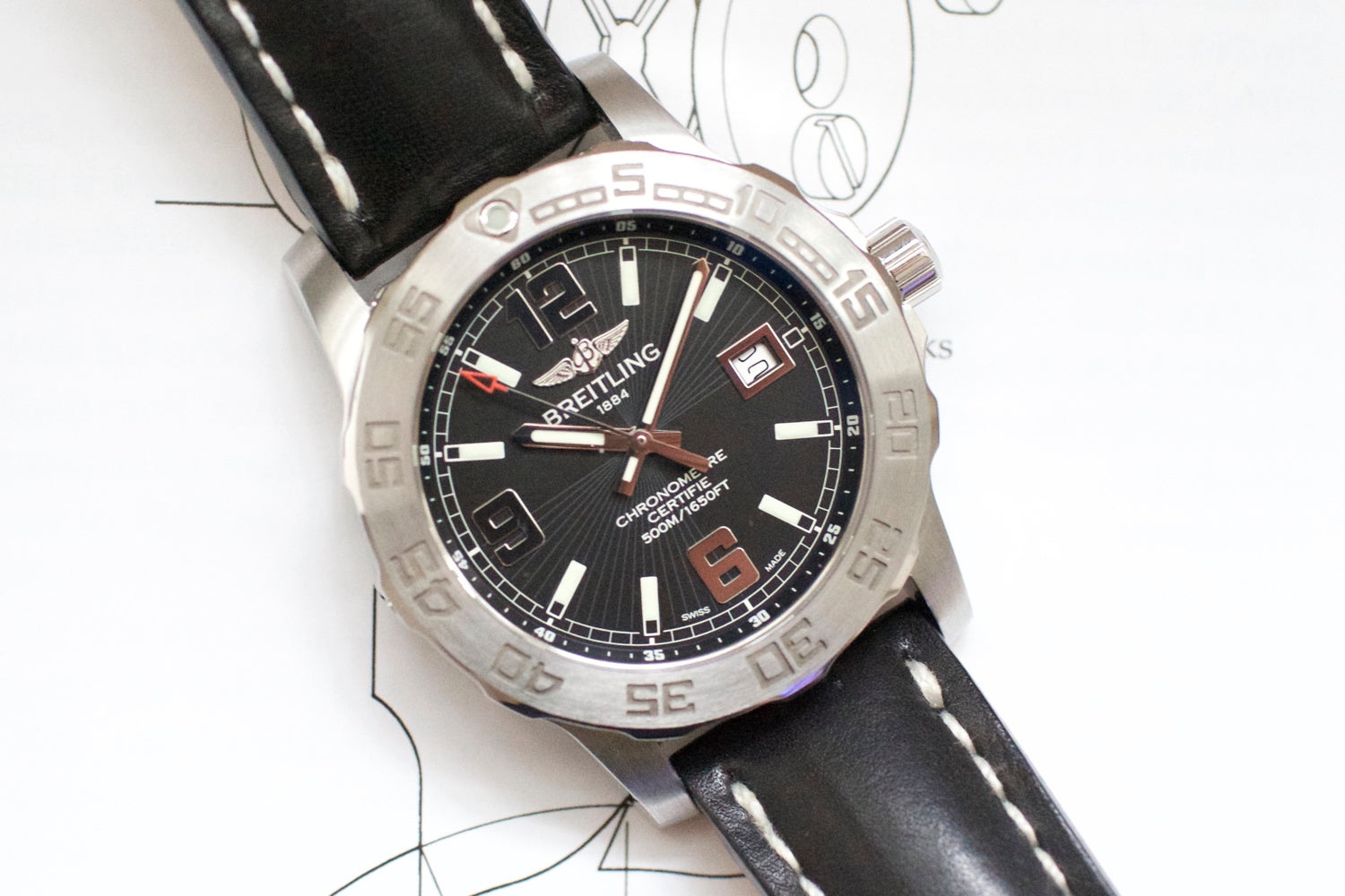 Breitling Colt 44 A7438710 Like NEW PAPERS AND BOX