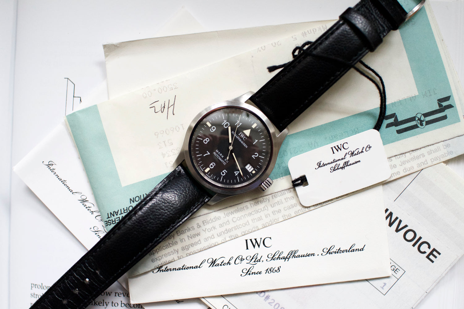 IWC 3241 Mark XII Men's Pilots Watch Box and Papers