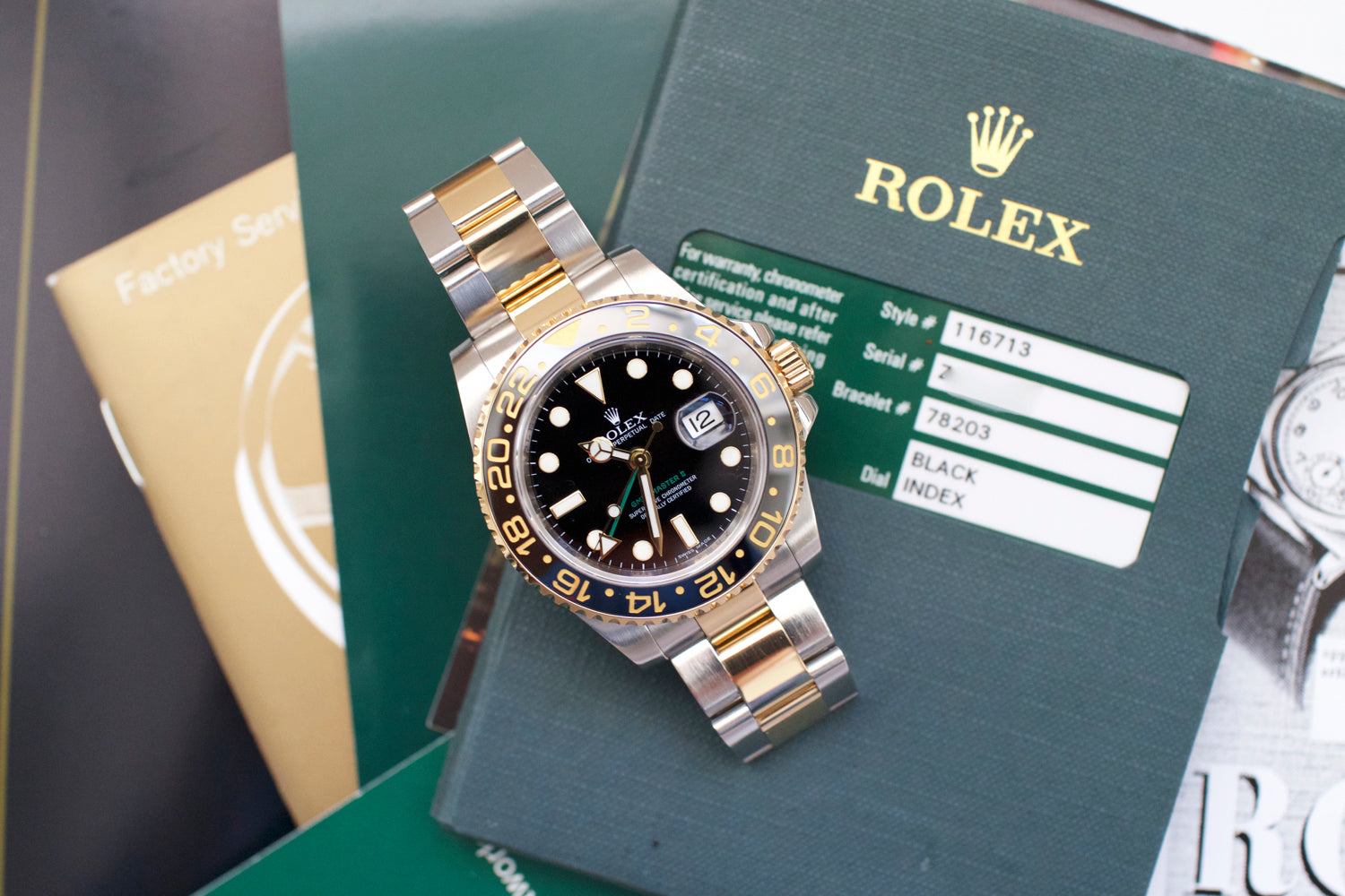 Rolex GMT-Master II 116713 Ceramic Two Tone GMT