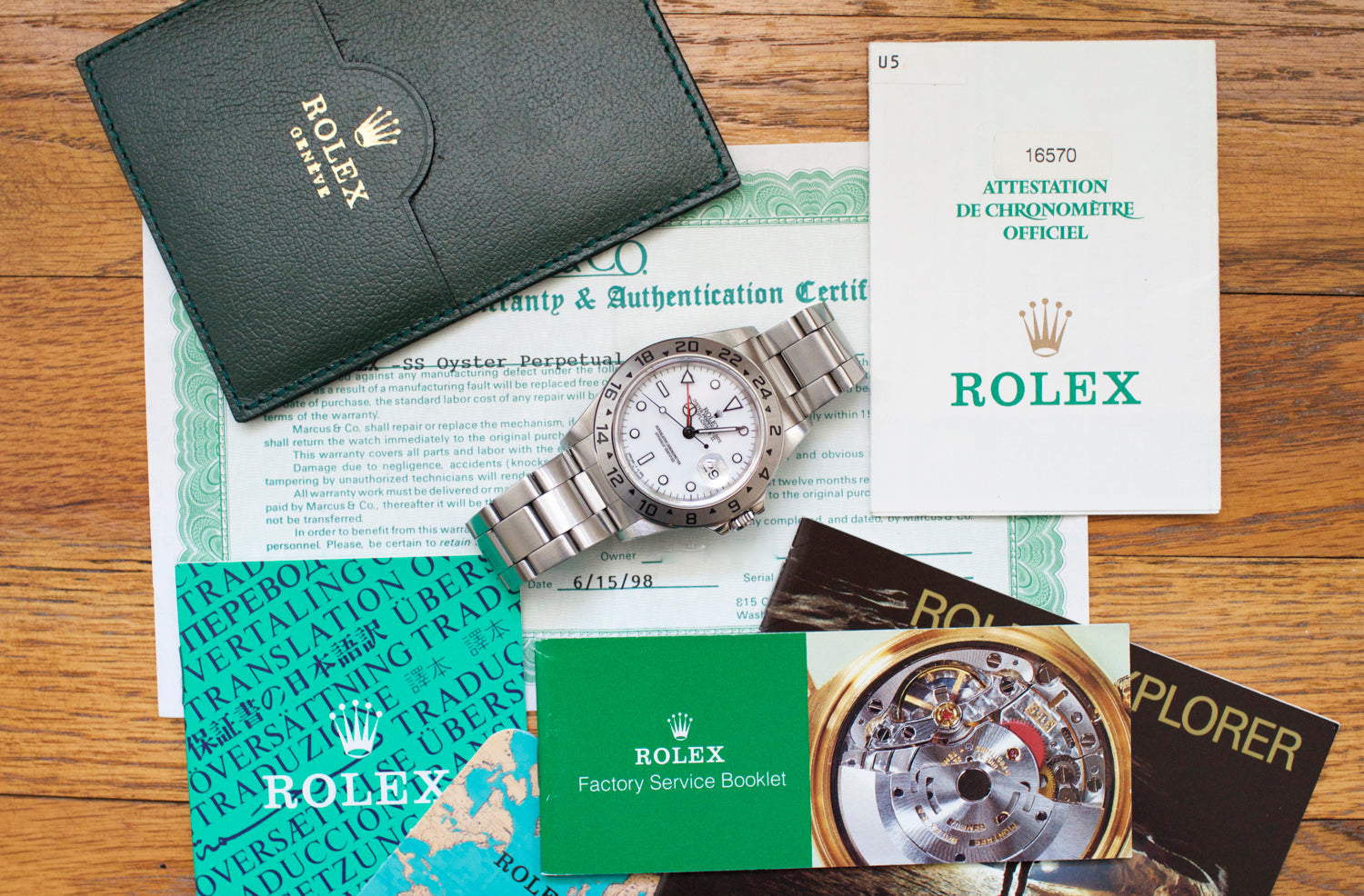 Explorer ii POLAR BOX AND PAPERS 16570