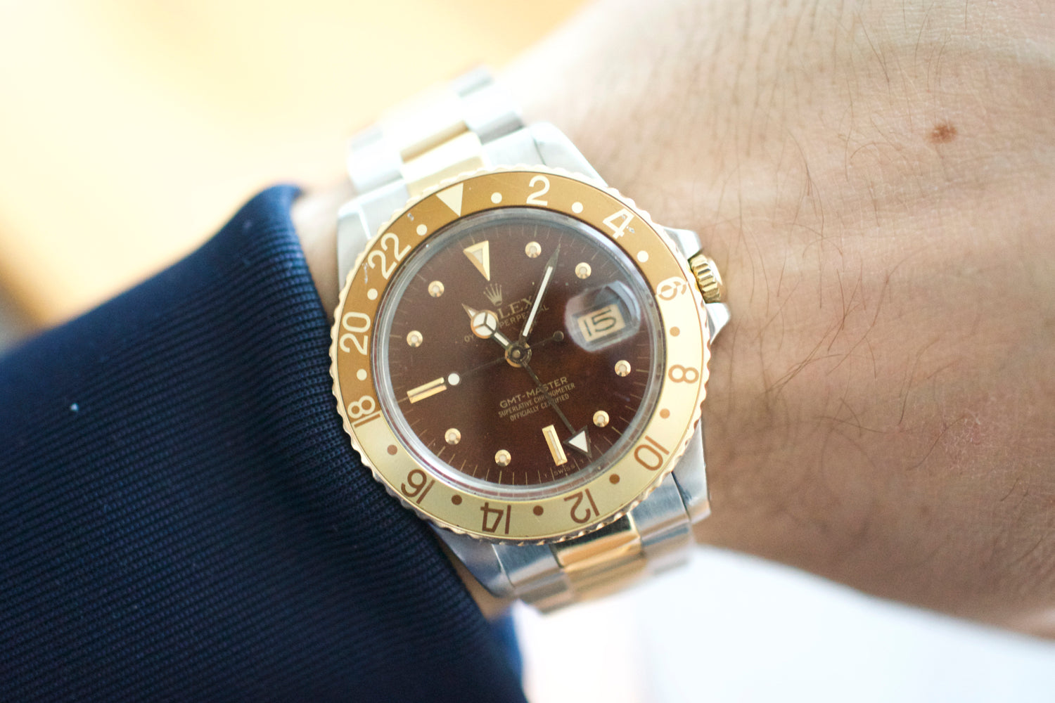 GMT Master 16753 Root Beer Two Tone NIPPLE