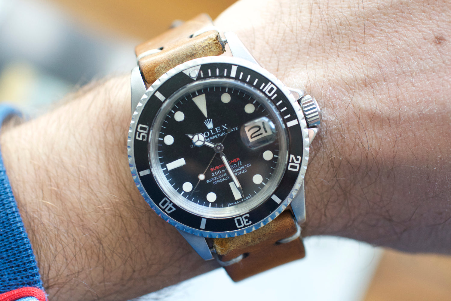 Rolex RED Submariner Date 1680 METERS FIRST 1969