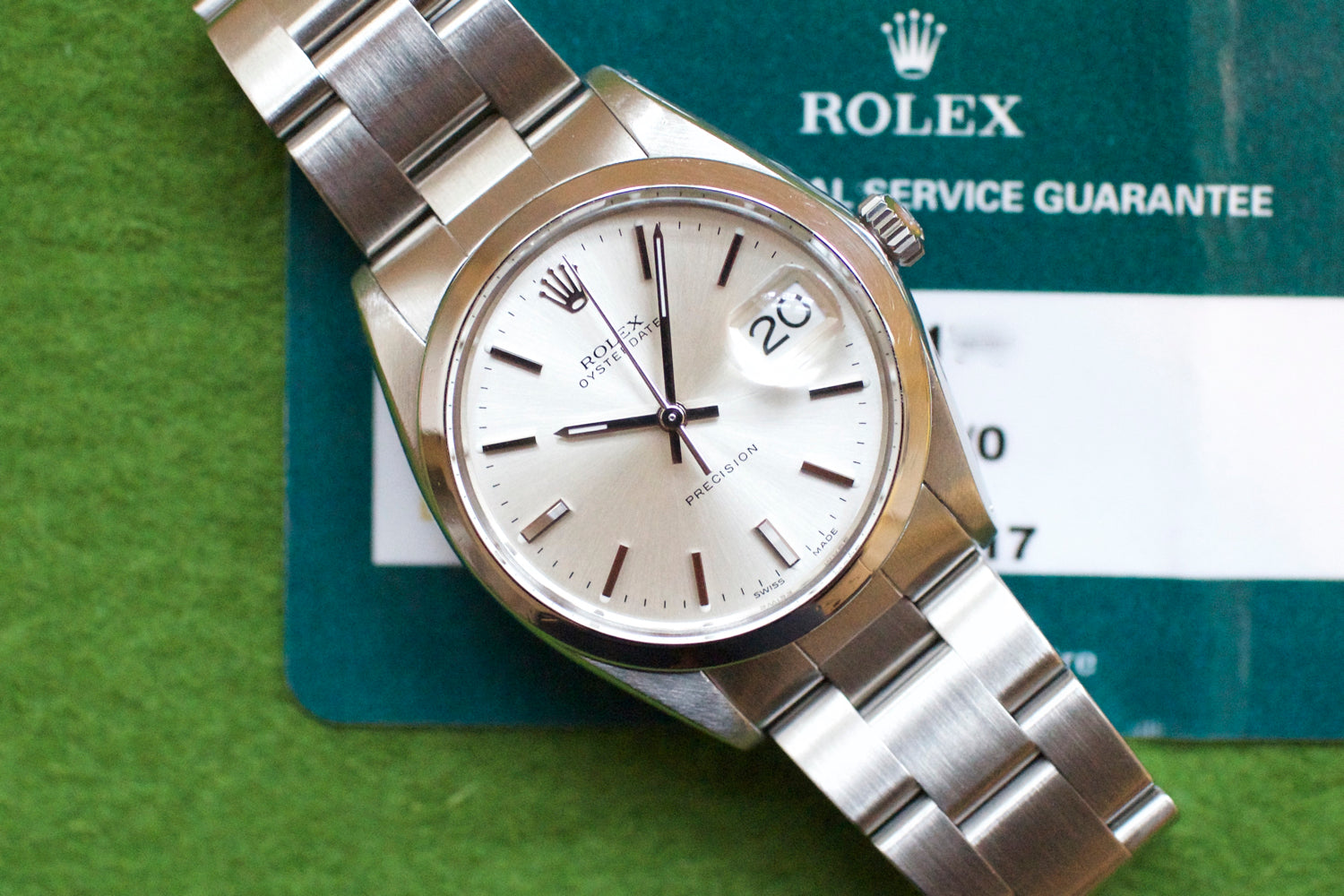 Rolex Oyster Precision 6694 34mm SERVICE PAPERS