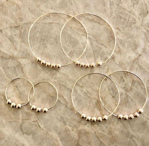 Endless beads hoops - Large 2""