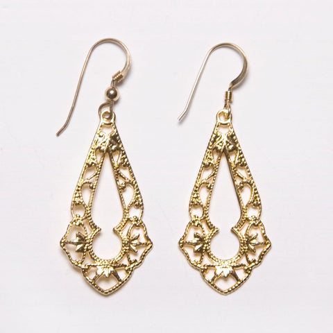 Filigree Keyhole  Earrings
