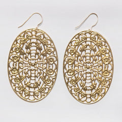 Filigree Oval Window Earrings