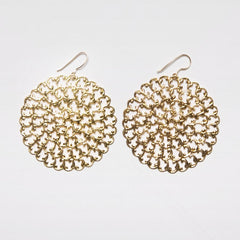 Filigree Dandelion Earrings