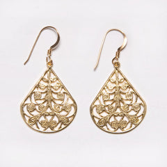Filigree Dewdrop Earrings