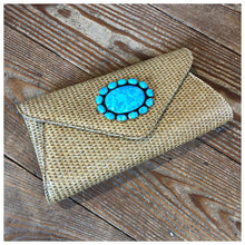 Load image into Gallery viewer, Hand woven straw handbag