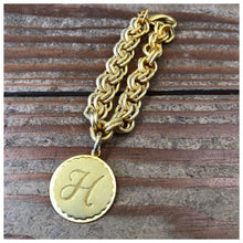 Load image into Gallery viewer, Chunk chain classic personalized initial bracelet