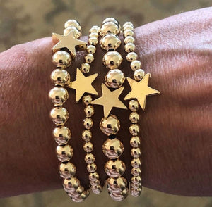 Texas star bead bracelets -small