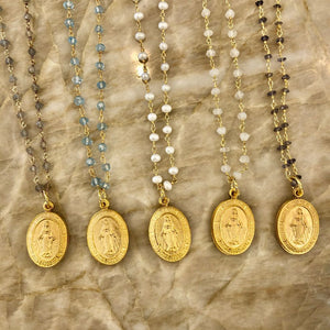 Layering chains with Lords Prayer Locket