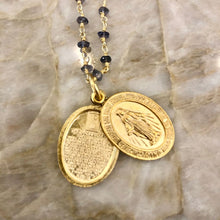 Load image into Gallery viewer, Layering chains with Lords Prayer Locket