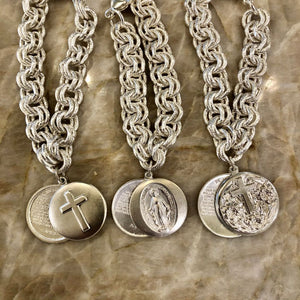 Classic Wimberly Chunky Charm Bracelet with Lord's Prayer locket