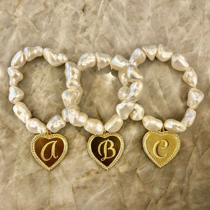Mother of Pearl stretch nugget bracelet