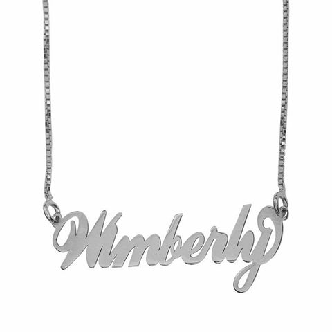 Name or Word Necklace - Sterling Silver